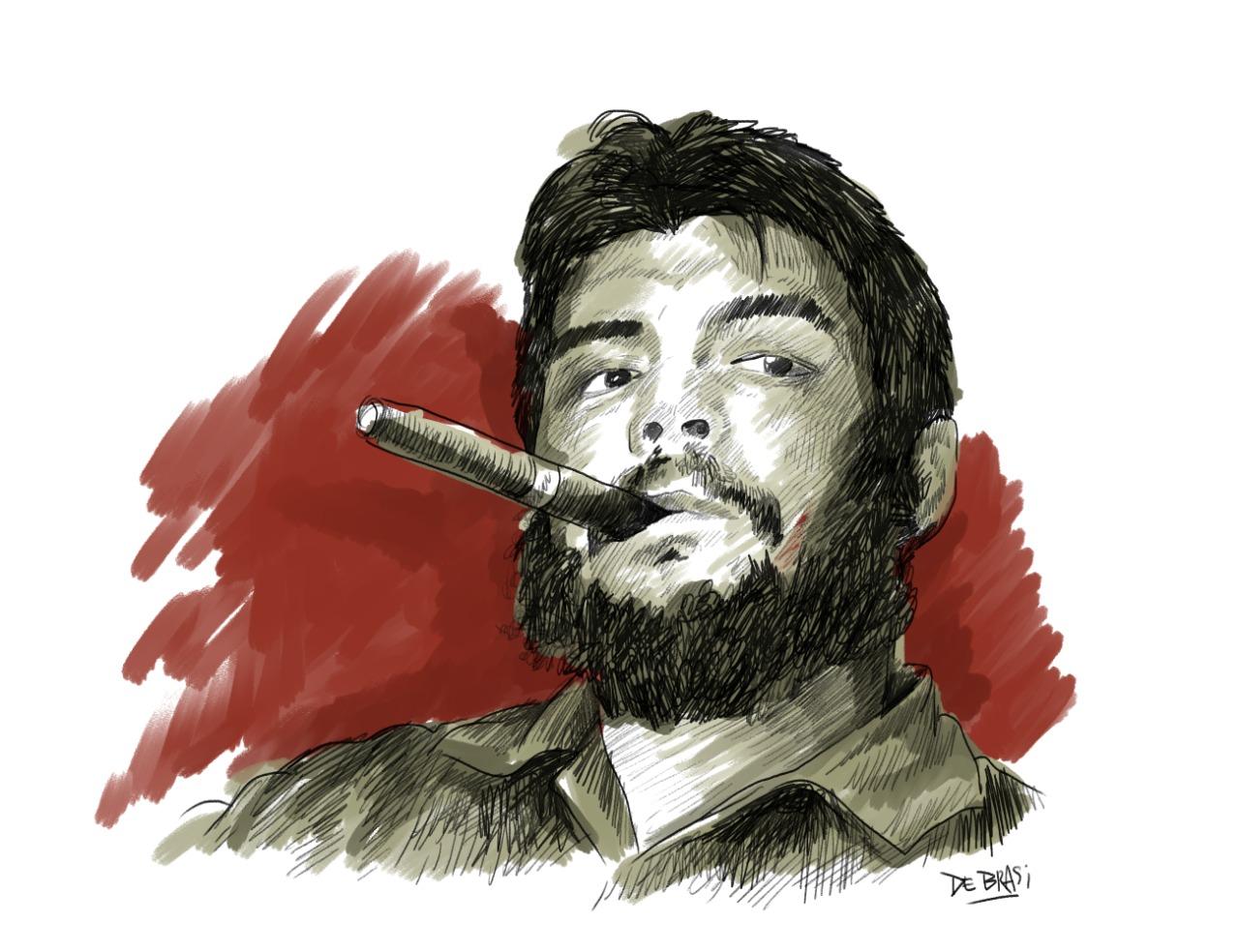 Ilustración del Che Guevara de Matías de Brasi